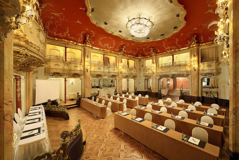 Conferences conference rooms hall to rent grand hotel for Grand hotel bohemia prague restaurant